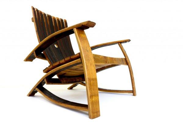 Oak, Whisky Barrel, Adirondack Chair